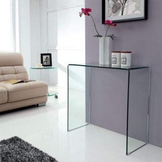 Azurro Glass Console Table