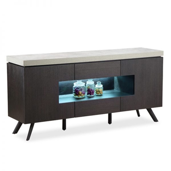 Modern sideboard with LED lights