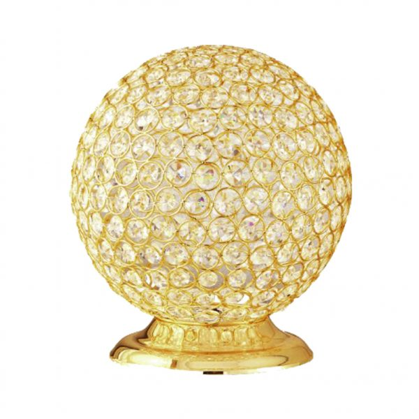 crystal table lamp, crystal lamp, round table lamp, gold table lamp, table lamp