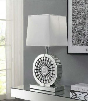 crystal table lamp, table lamp, mirror table lamp, round table lamp