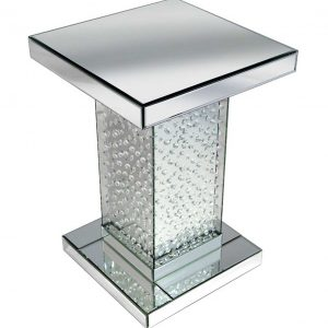 side stand, side table, pillar, mirror side table, mirror side stand, mirror pillar, crystal side stand, crystal side table, crystal pillar, floating crystal pillar, floating crystal side table, floating crystal side stand