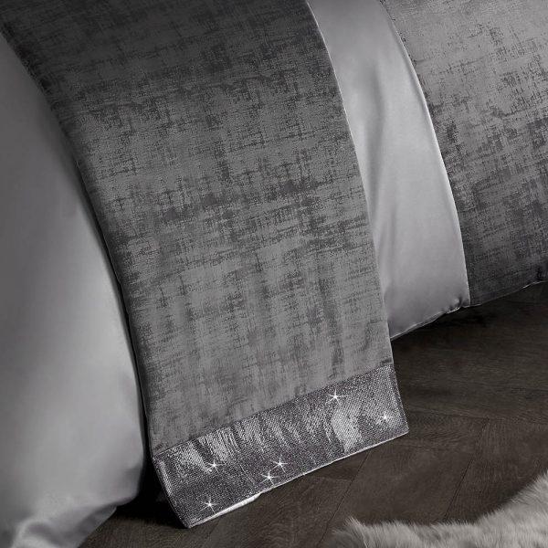 kylie Minogue bed runner, kylie Minogue bedding, silver bedding, diamanté bedding
