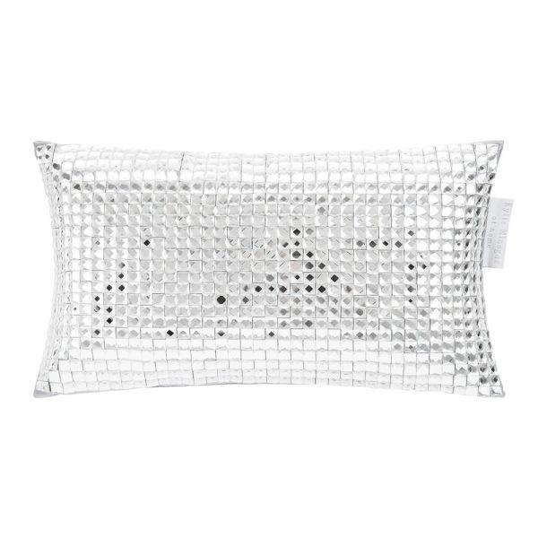 diamond cushion, clutch cushion, small cushion, silver cushion