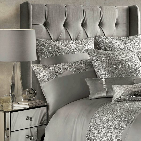 Kylie Minogue Bedding, sequin duvet set, silver duvet set