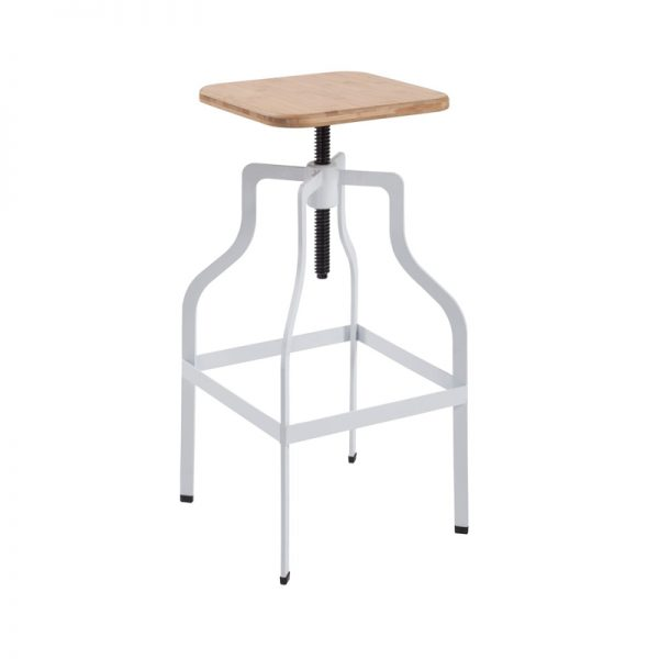 shoreditch bar stool white