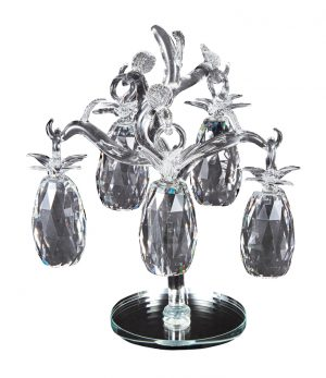crystal ornament, glass ornaments, clear ornaments, fireplace ornaments, unique ornaments, pineapple ornaments