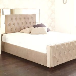 custom beds, custom made beds, bespoke beds, make your own bed, velvet bed, crushed velvet bed, velvet bed, mirror furniture