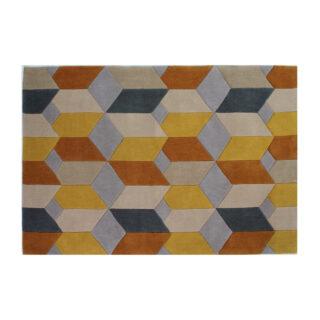 Scope Geometric Pattern Rug, 80 x 150cm, Ochre