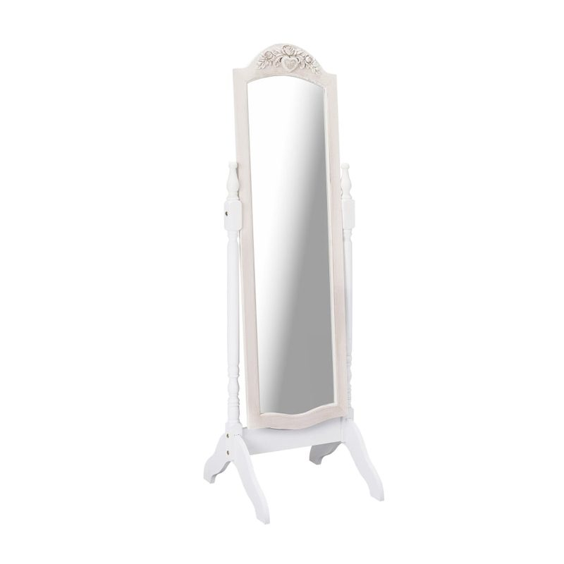french style wooden cheval mirror