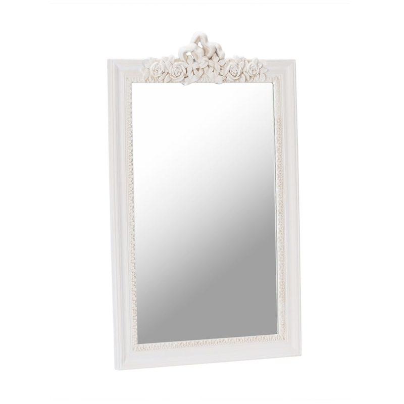 large ornate cream wall mirror