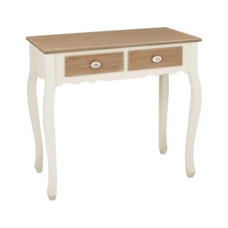 Jeanette Shabby Chic Oak Console Table Oak