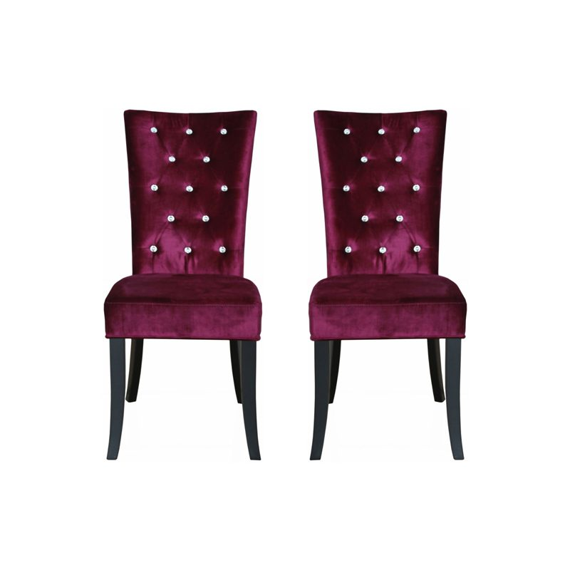 radiance dining chair purple, home store living