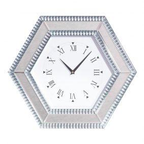 Geometric Mirror Wall Clock