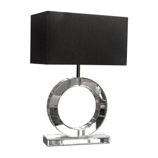 Round Mirrored Table Lamp