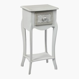 Brittany 1 Drawer Shabby Chic Bedside Cabinets