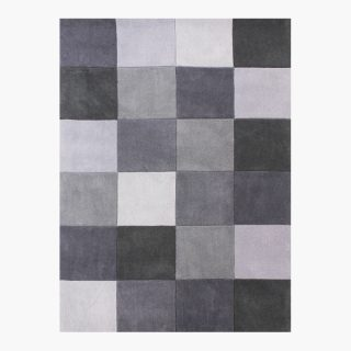 ETERNITY – Square Pattern Rug Grey