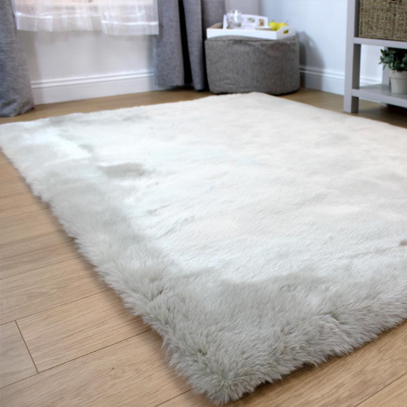Fairmont Faux Fur Rug, 120 x 170cm, Grey | Home Store Living