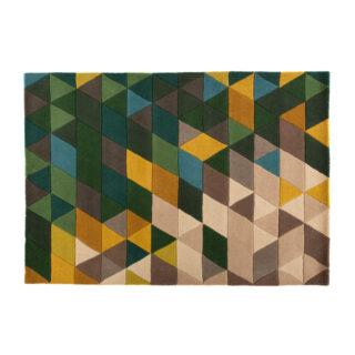 Iso Multi Colour Mosaic Rug Green 80 x 150