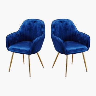 Lara – Blue Velvet Dining Chairs (2pk)