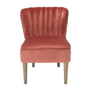 Charli Accent Chair, Vintage Pink Velvet