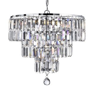 Ava 5 Light Chandelier with Crystal Drops
