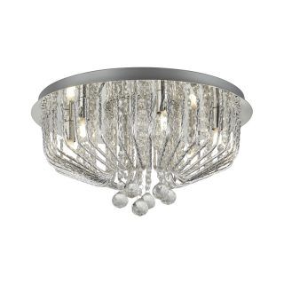 Vivienne 6 Light Flush Ceiling Fitting with Crystals