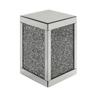 Crushed Diamond Cube Side Table