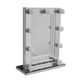 Hollywood Light Up Mirror with Crushed Diamonds