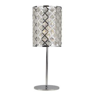 Crissy Chrome & Crystal Lattice Table Lamp