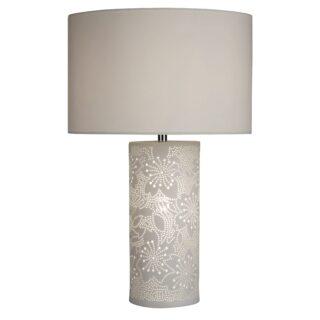 Flora White Ceramic Table Lamp