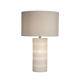Marina White Ceramic Wave Table Lamp