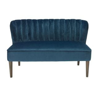 Charli 2 Seater Sofa, Midnight Blue Velvet