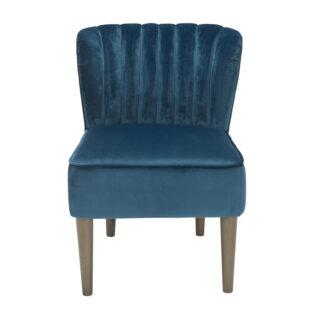 Charli Accent Chair, Midnight Blue Velvet