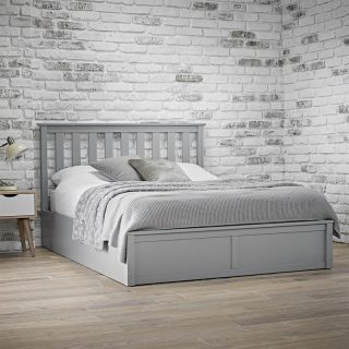 Bayswater Grey Wooden Ottoman Bed
