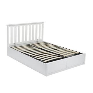 Bayswater Wooden Ottoman Bed, White