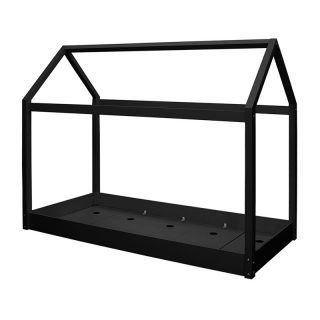 Casa Wooden House Bed, Black