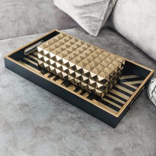 Gold Studded Box with Lid