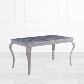 Lewie Grey Marble Dining Table