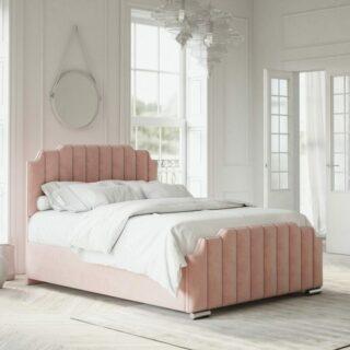 Hawk Art Deco Velvet Fabric Bed