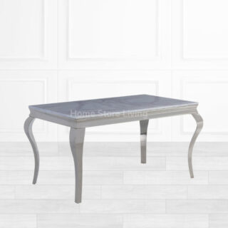 Lewie White Marble Dining Table