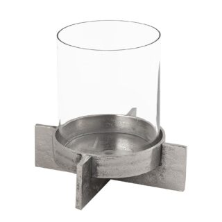 Farrah Collection Silver Candle Holder